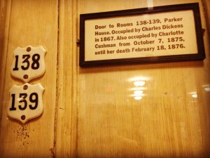 Charles Dickens' Door at the Parker House Hotel